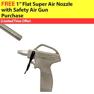 VariBlast Compact Safety Air Gun with Nozzle and Extension Pipe