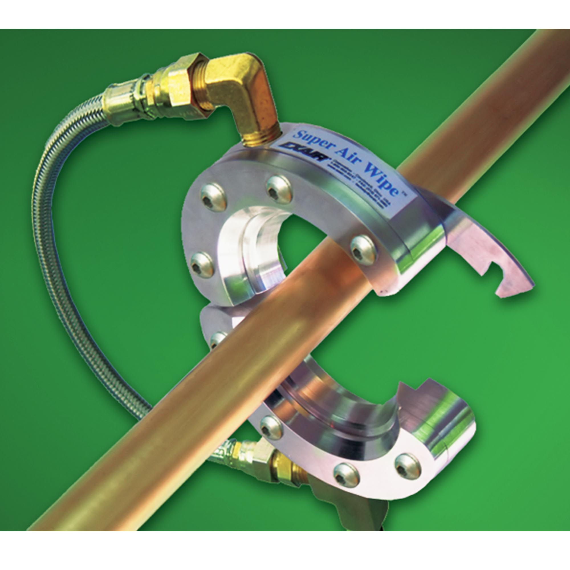 The split design of the Super Air Wipe allows easy installation without threading.