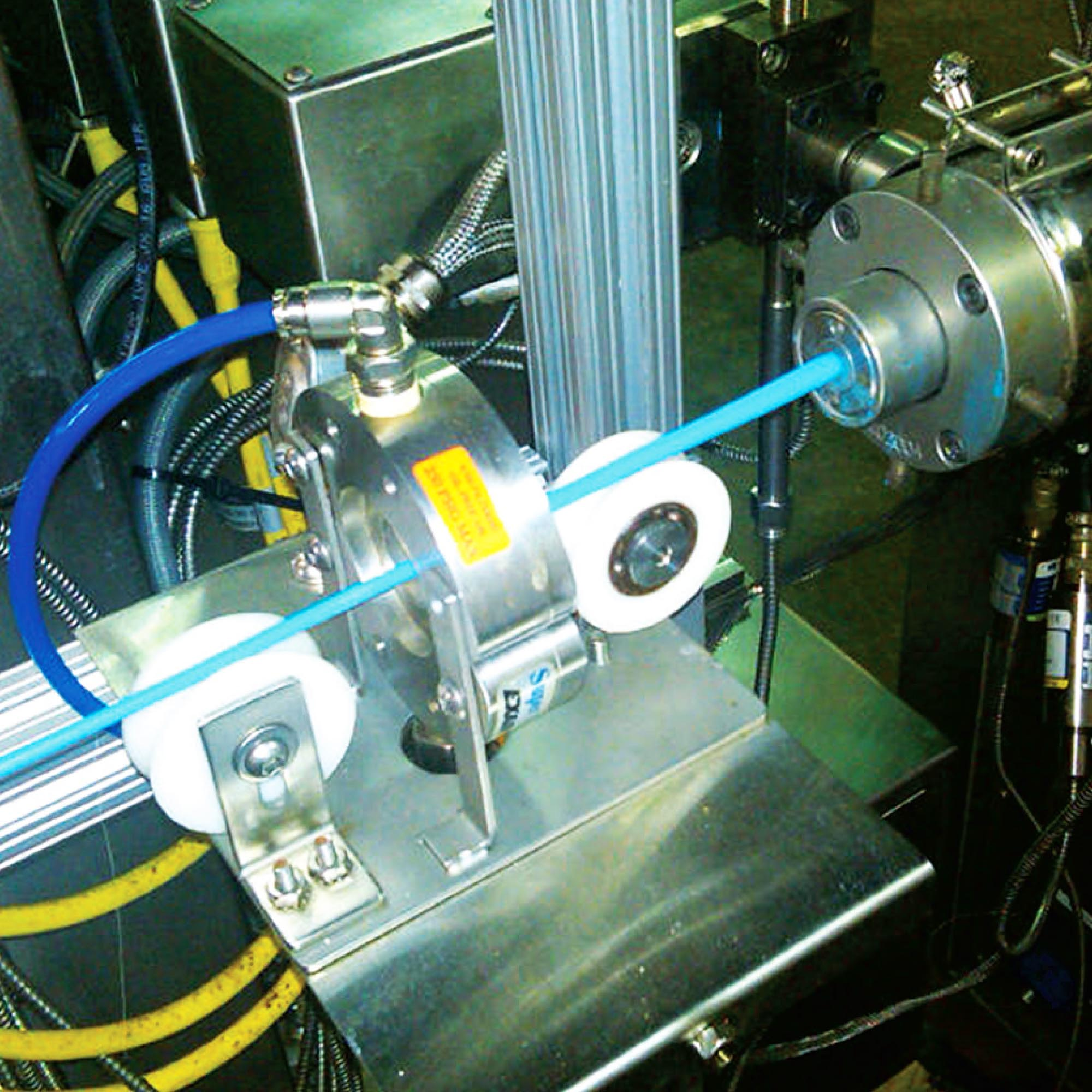 This aluminum Super Air Wipe is cooing extruded tubing.