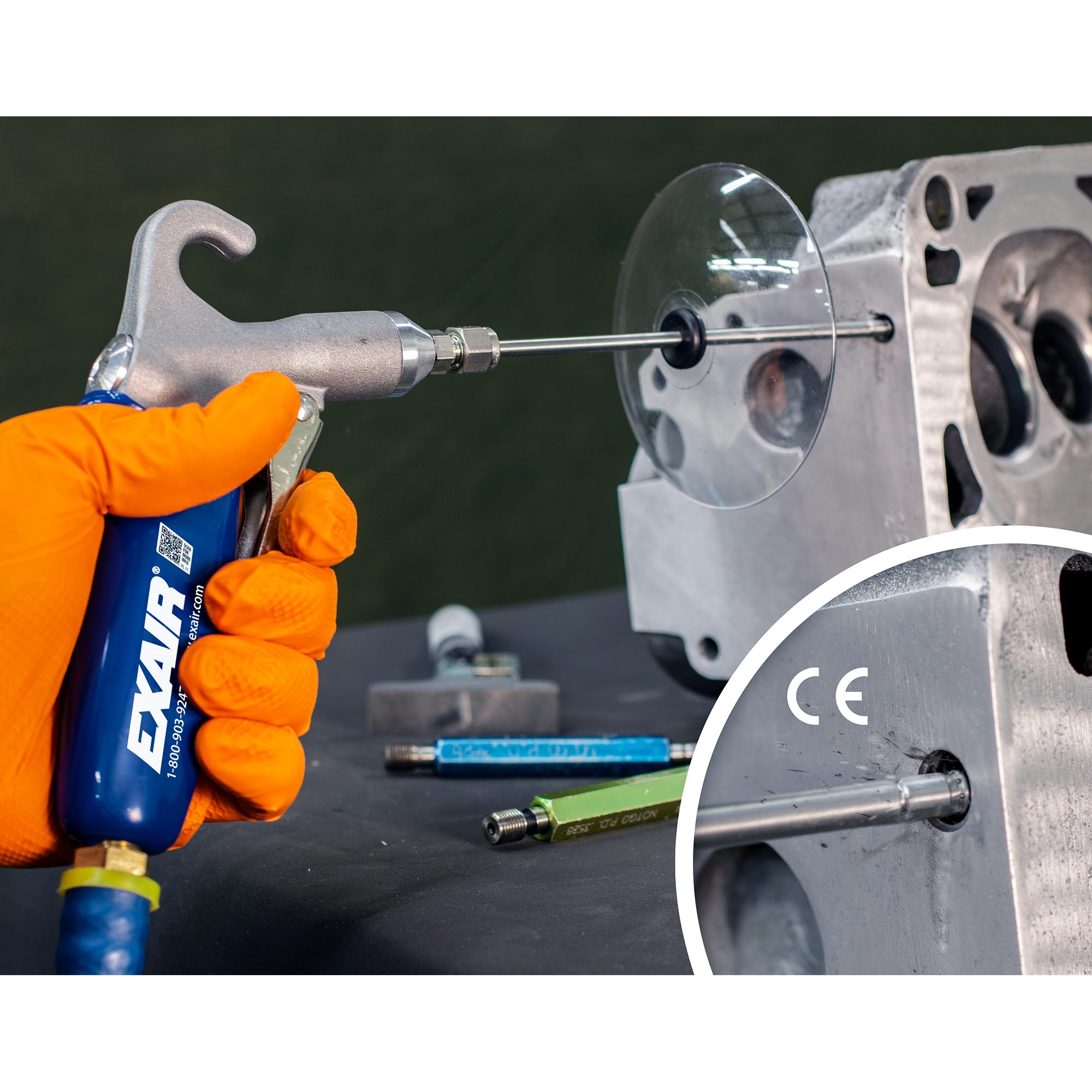 The Model 1210-CS Soft Grip Safety Air Gun keeps a drilling process free of machined spirals.