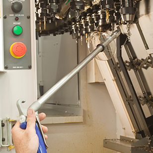 The Soft Grip Safety Air Gun with an Extension can help you blow off areas that are hard to reach.