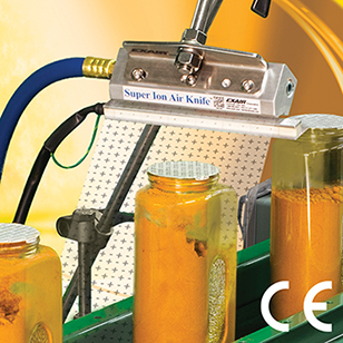 Super Ion Air Knifes can eliminate static from conveyor lines, packaging lines, extrusions, molds and sheets.