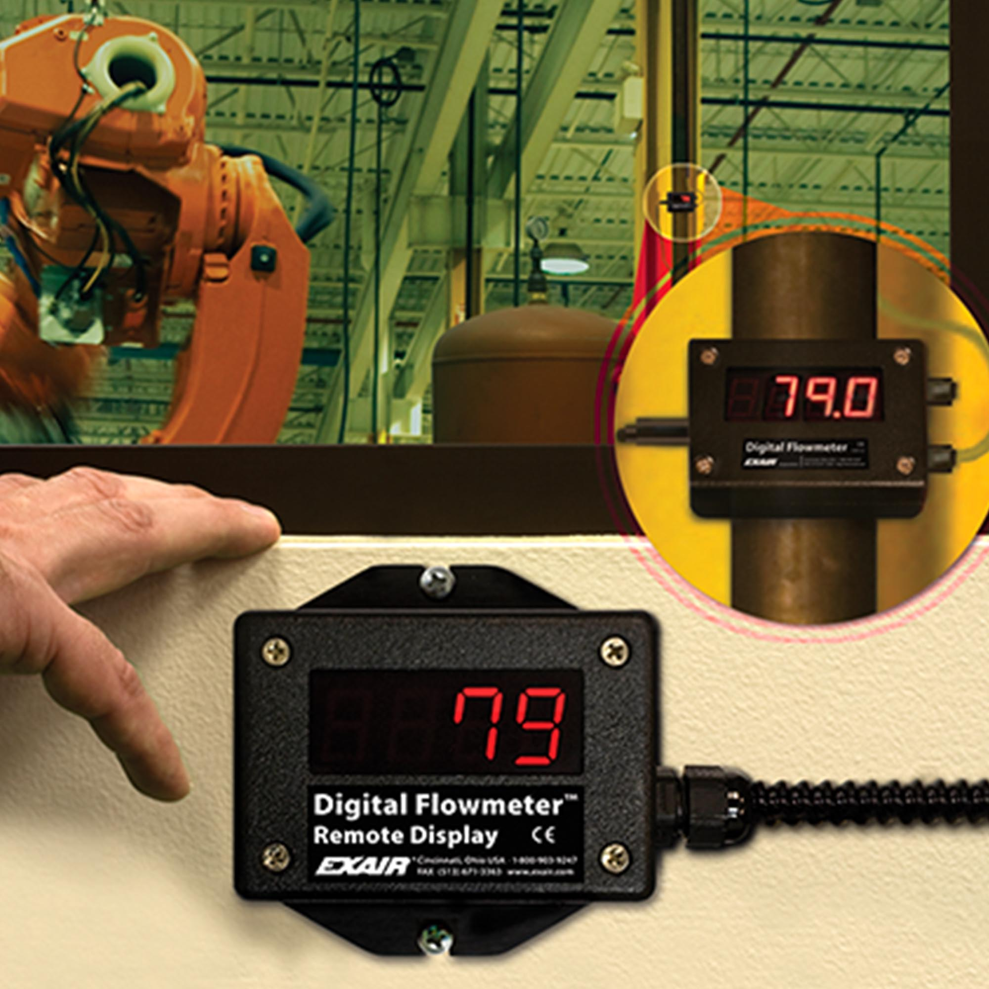 The Summing Remote makes it easy to read flow data from hard-to-reach areas.
