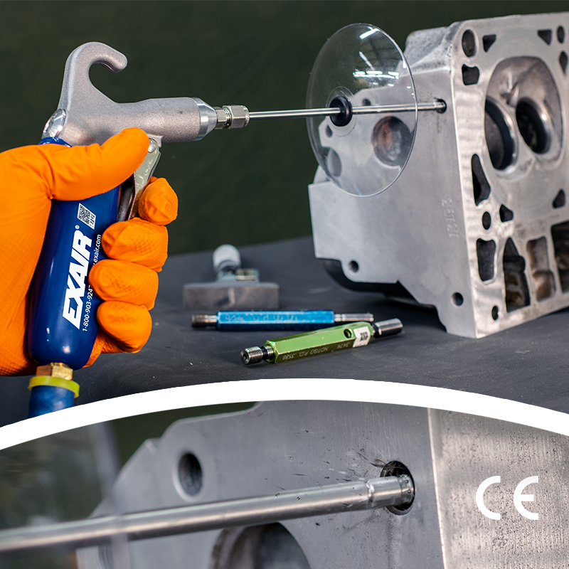 Soft Grip Back Blow Safety Air Gun for Cleaning Small Inside Diameters