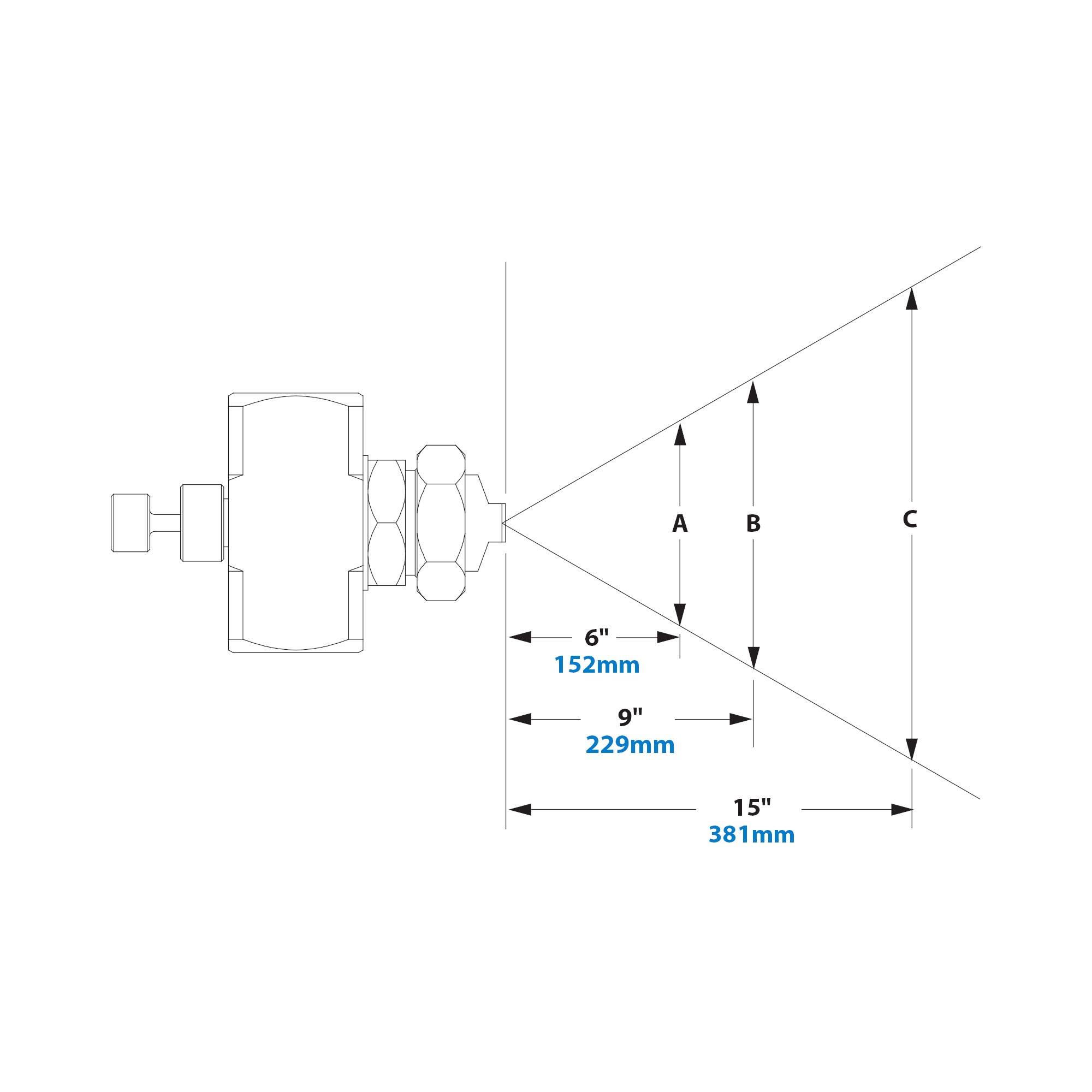 EXAIR EB1040SS Atomizing Nozzle 117 LPH Max 31.0 GPH Maximum Flow ...